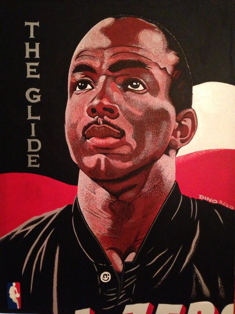 Local Artist Dino Murphy Produces Incredible Blazers Paintings