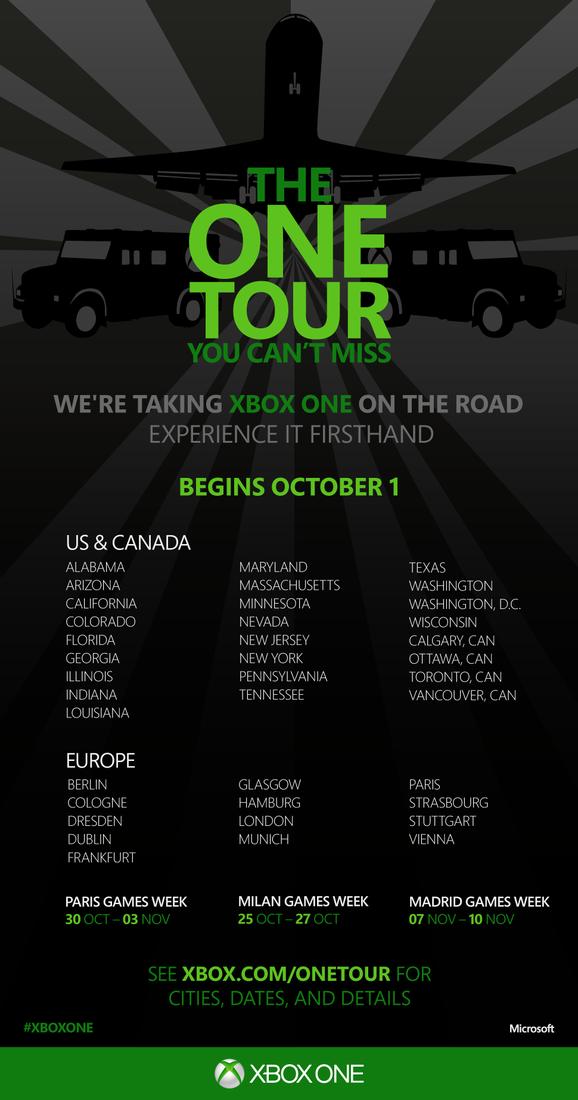 Xbox One Tour Poster