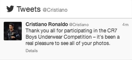 Maybe Cristiano Ronaldo shouldn't hold a boys underwear ...