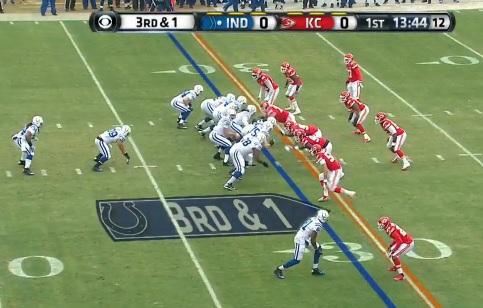 ColtsChiefs3play shotgun formation strikes again colts aren't a power running team