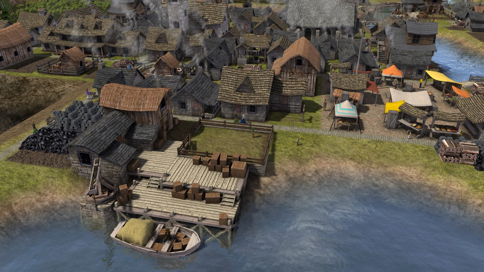Banished_village_dock