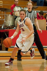 Seattle University point guard Cassidy Murillo drives to the basket in a  70-48 victory over Northwest University (via jlindstr.smugmug.com)