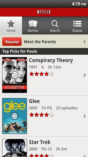 Netflix Android Screen Shot