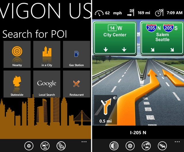 Navigon for Windows Phone