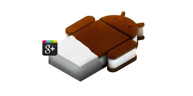 google+ ice cream sandwich