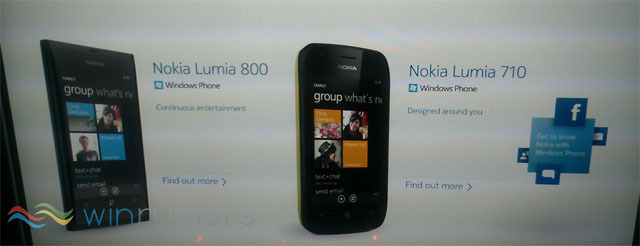 lumia 800 and lumia 710