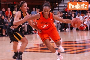 OSU's Kendra Suttles was a driving force for the Cowgirls on Sunday.
