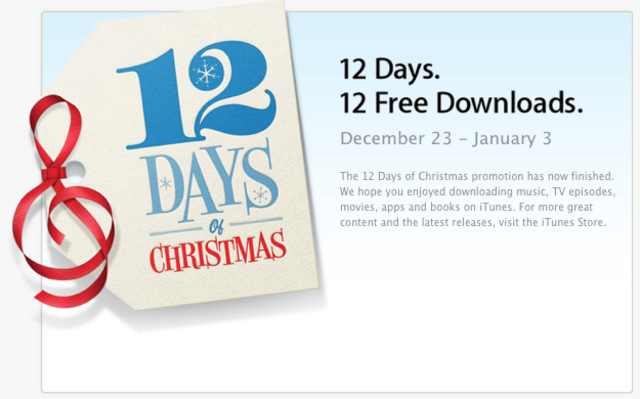 12 days of Christmas app