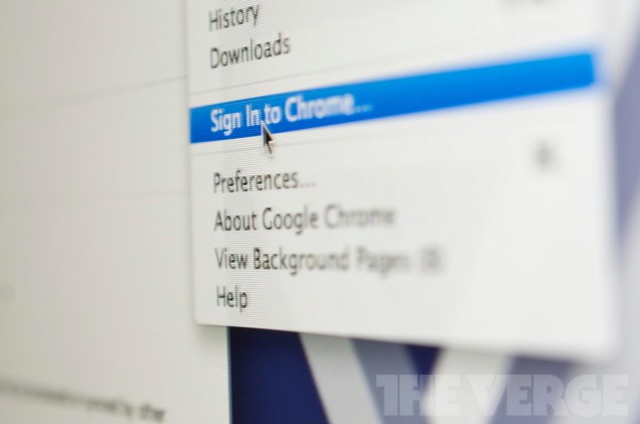 Google Chrome Sync update macro shot (cropped)