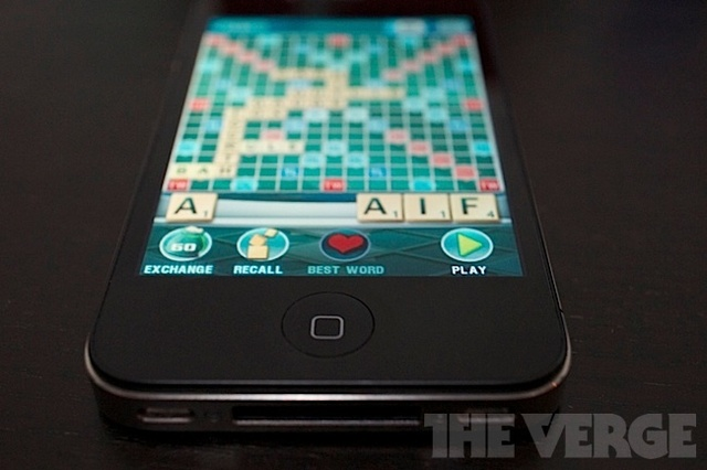 Scrabble on iPhone