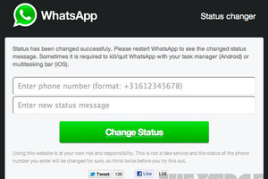WhatsApp status changer