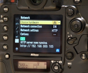 Nikon D4 network control demo