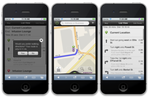 MapQuest HTML5 web app