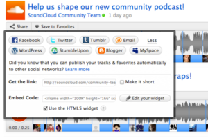 SoundCloud HTML5 widget