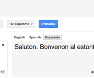 esperanto google translate