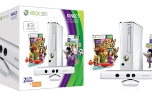 Xbox 360 Special Edition 4GB Kinect Family Bundle stock press 1024