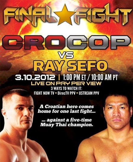 Final Fight: Crocop vs Ray Sefo - Video y resultados