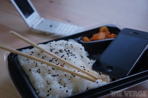 iphone happily sitting in bento