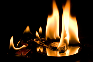 burning hard drive (SHUTTERSTOCK)