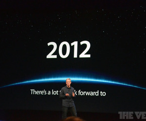 Tim Cook looking forward to 2012