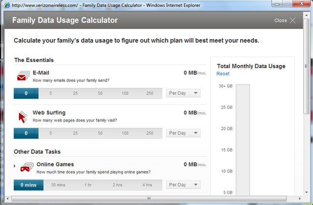 Verizon Wireless family data plan calculator - Phone Arena