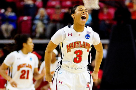 Laurin Mincy and Alyssa Thomas have drawn praise for scoring 21 points apiece to lead the Maryland Terrapins to an 81-74 win over the Texas A&M Aggies, but freshman point guard Brene Moseley played a vital role as well that can't be overlooked. Evan Habeeb-US PRESSWIRE.
