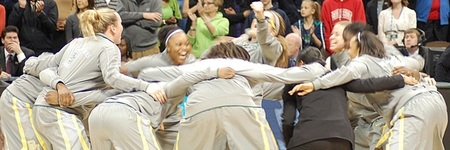 The Baylor Lady Bears started the night the same way they finished it - dancing.