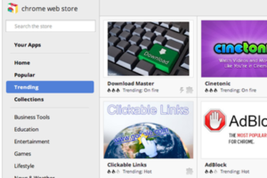 Google Web Store Trending