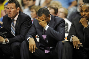 The Suns can't hang their heads now...They have another big game tonight!  Mandatory Credit: Ron Chenoy-US PRESSWIRE