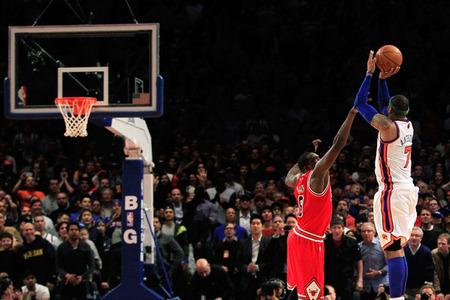 NBA Scores & More: CARMELO ANTHONY Rides Again As Knicks Upset Bulls, Celtics ...