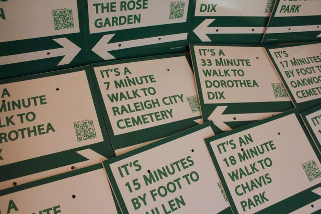 Walk Raleigh signs