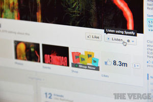 Facebook music listen button spotify