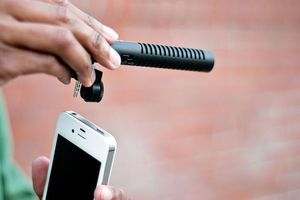 iPhone boom mic