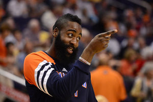 "James Harden before tonight's game: ""I'm gonna score a ton of points. Ya hear me?"""