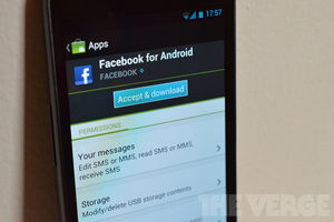 Facebook Android Permissions SMS