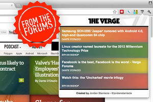 Unofficial The Verge Reader Chrome Extension FTF