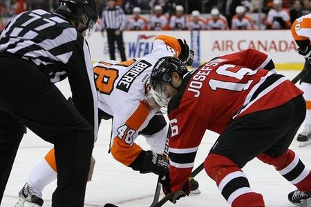 Oh look, it's another offensive zone faceoff for Briere.