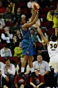Minnesota Lynx guard Monica Wright showed