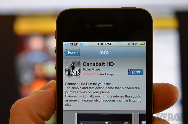 Fake Canabalt HD for iOS