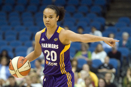 Los Angeles Sparks guard Kristi Toliver is off to a good start this season, but - despite her heroics - Tuesday night's game showed that she probably needs a backup. Photo by Marilyn Indahl-US PRESSWIRE.