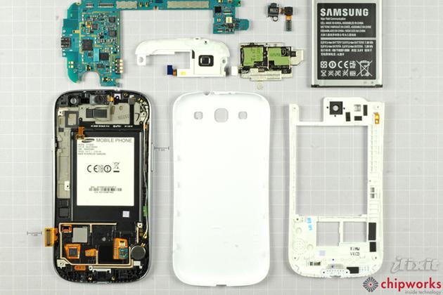 Samsung Galaxy S III teardown (IFIXIT)
