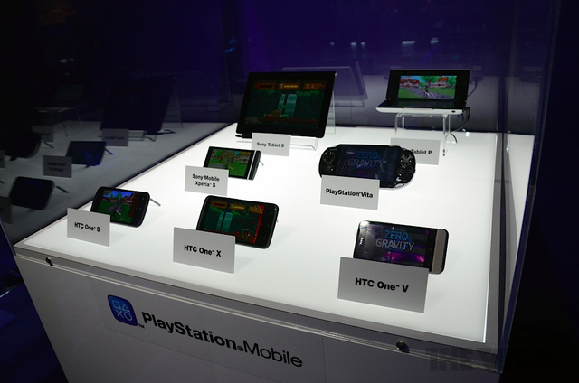 HTC One with PlayStation Mobile (angled)