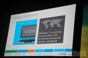 Windows 7 600 million licenses