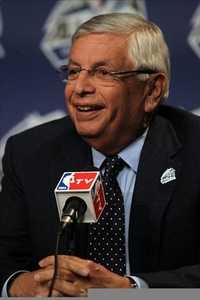 David Stern wasn't all smiles today.