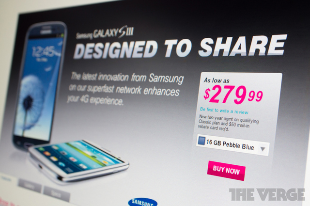 galaxy s iii t-mobile pricing