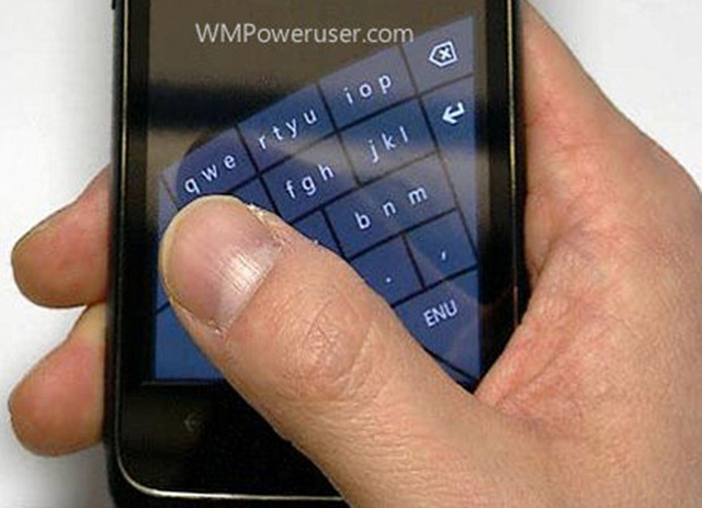 Windows Phone curved keyboard (WMPU)