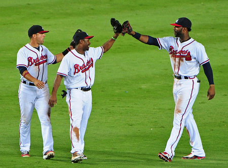 The Braves' regular outfield has 11.5 WAR, more than any trio combined in all of baseball, yet none of these guys are All-Stars.  And people wonder why lots of people don't care about the All-Star Game?
