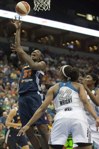 After torching the Shock on Friday, Tina Charles had a 19-point 15-rebound game Saturday as the Sun took down the Lynx 86-80 in Minneapolis. (Credit: Marilyn Indahl-US PRESSWIRE)