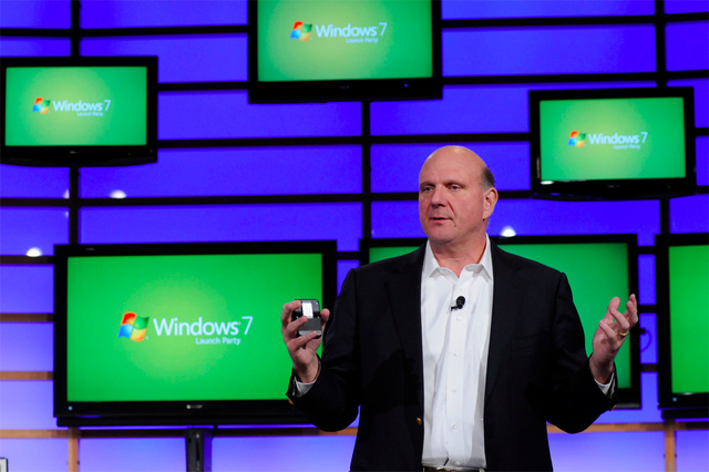 Microsoft Windows 7 launch Steve Ballmer