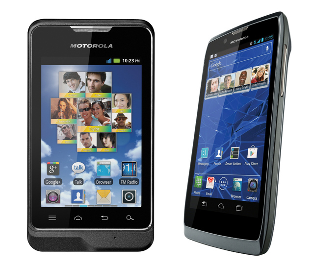 Motorola Motosmart and Razr V